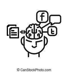 social media procrastination illustration design