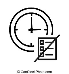 time to stop working illustration design