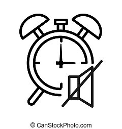 turn off alarm clock illustration design