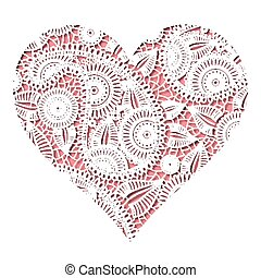 Lace cut heart valentines day symbol