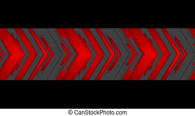 Red and black tech arrows video animation - Red and black...