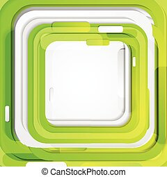 Shiny green concept geometric drawing background