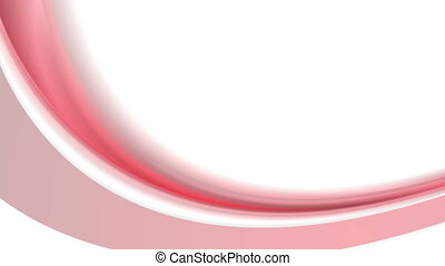 Video animation with red waves and hearts - Motion graphic...