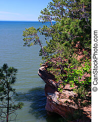 Apostle Islands - Wisconsin - View of Lake Superior from...
