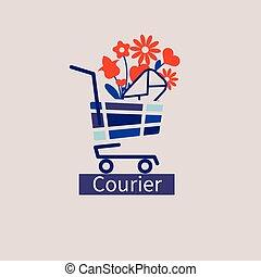 icon courier service - Logo vector, icon courier service....