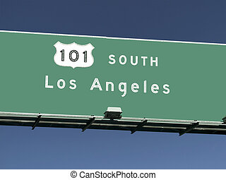 Los Angeles 101 Freeway Sign