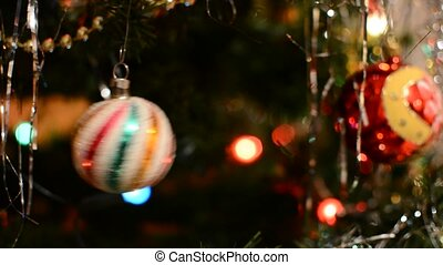 Christmas shiny ball - Shiny christmas ornamental ball hangs...