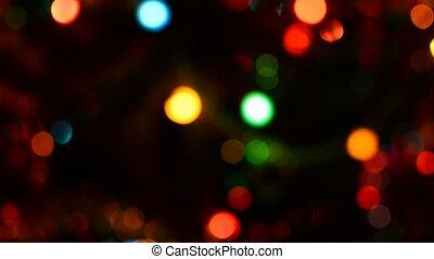Vivid bokeh lights - Panning camera move shot and view at...