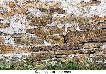 vägg, frimureri, sten