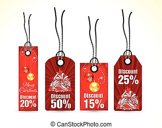 abstract multiple christmas tags