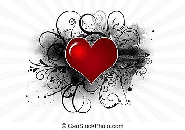 Heart valentine day background
