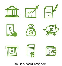 Set of vector business icons.