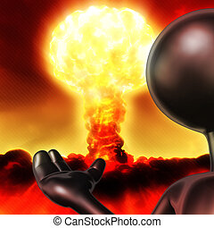 Nuclear Armageddon - A Concept And Presentation Illustration...