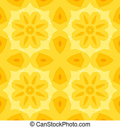 Seamless simple texture with a yellow flower and stylized...