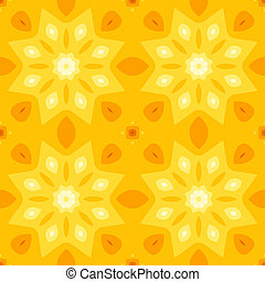 Simple seamless texture with a yellow star or flower and...