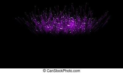 Spectacular Fireworks show, violet linear fireworks, multiple lines. Full HD Ver. 19