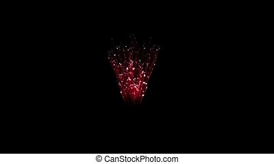 Spectacular Fireworks show, red linear fireworks, multiple lines. Full HD Ver. 34