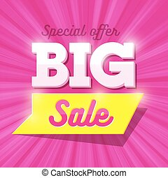 Big Sale special offer banner