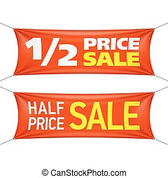 Half price sale banners