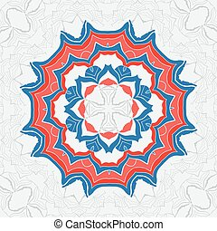 Vector hand drawn decorative elements in tribal indian style. Stylized pattern for Yoga Meditation Poster. Mehndi ornamental border, pattern mandala. Ethnic design theme