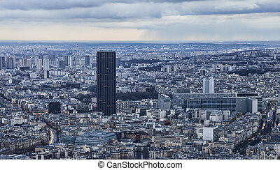 Paris - Tour Montparnasse - Dusk image over Tour...