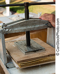 Wooden Manual Printing Press
