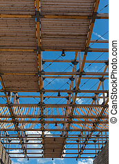 Wooden Ceiling Structure: Building with Modern Architectural...