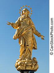 Madonnina Statue Perfect Replica - Madonna Golden Statue...