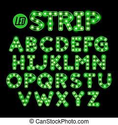 LED ribbon strip light font