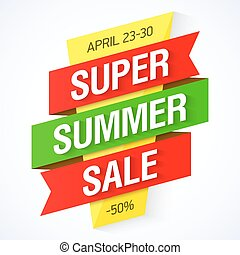 Super Summer Sale banner illustration