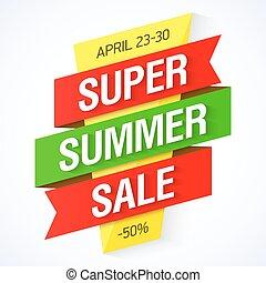 Super Summer Sale banner illustration