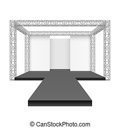 Fashion runway podium stage, metal truss system