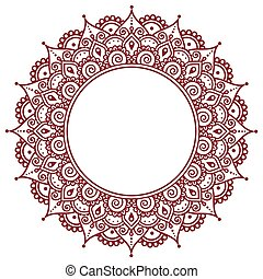 Mehndi, Indian Henna tattoo pattern or background - Vector...