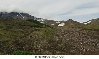 Panorama at foot of volcano Avachinskaya group. - Panorama...