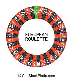 European roulette wheel illustration