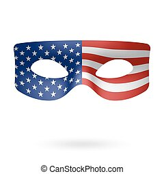 Masquerade Mask - USA Flag Masquerade Mask vector...