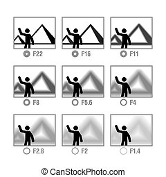 Photography cheat sheet in icons
