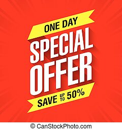 One day special offer sale banner