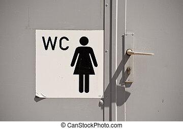 Toilet - Close up of a toilet door