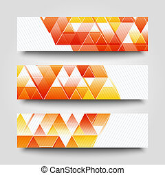 Graphic illustration. - Set of banner templates with...