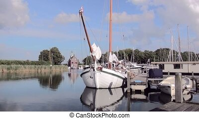 Zoom in to a classic Dutch Sailboat. - Dutch Classic yacht...