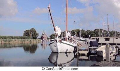 Zoom in to a classic Dutch Sailboat. - Dutch Classic yacht...