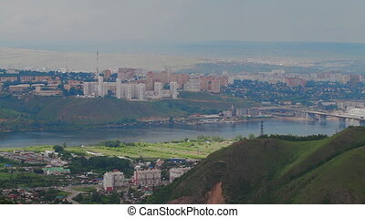 Scenic view from high mountain Sun City Cityscape - Summer...