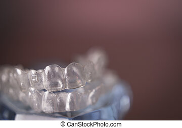 Dental orthodontic invisible teeth correction - Transparent...