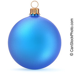 Christmas ball blue New Year's Eve decoration ornament bauble
