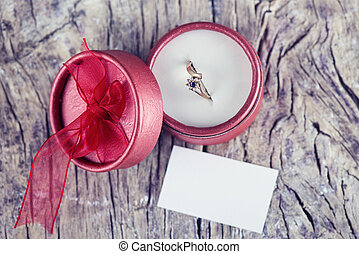 Wedding proposal - wedding ring for valentine day proposal