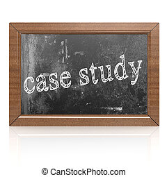 Success concept with case study on blackboard, 3D rendering