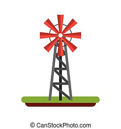 wind mill field isolated icon