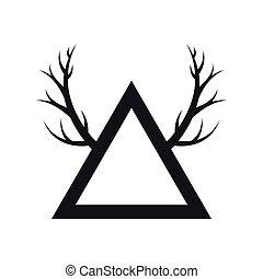 elegant frame with chunks icon vector illustration design