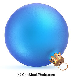 Christmas ball wintertime ornament blue Happy New Year bauble